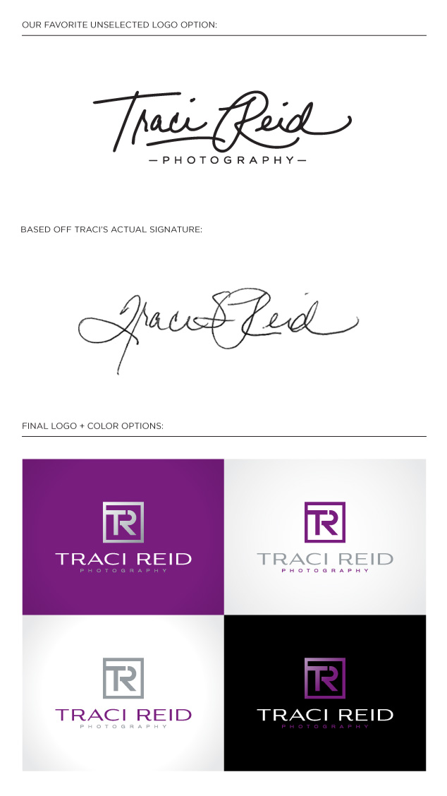 traci reid photography logo design