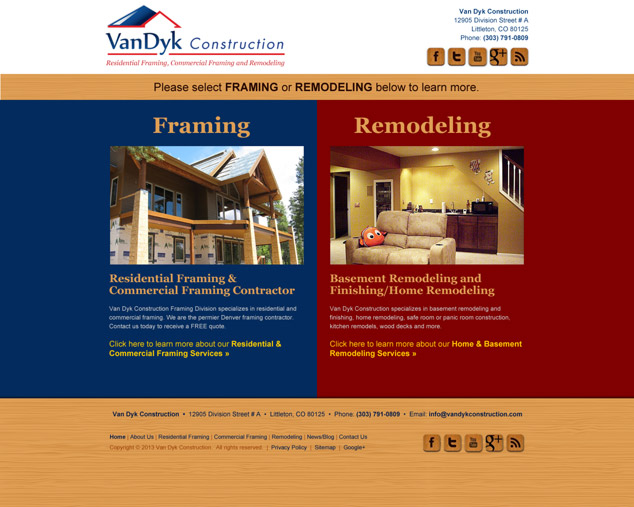 construction wordpress web design