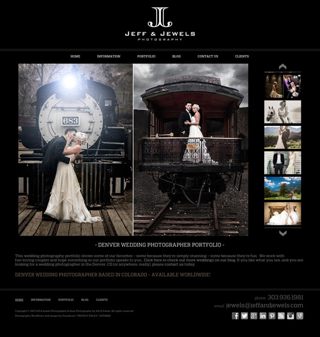 Jeff & Jewels Photography Portfolio Web Design