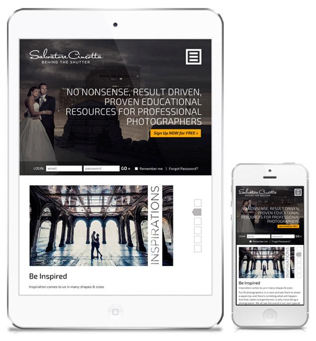 BTS responsive web design