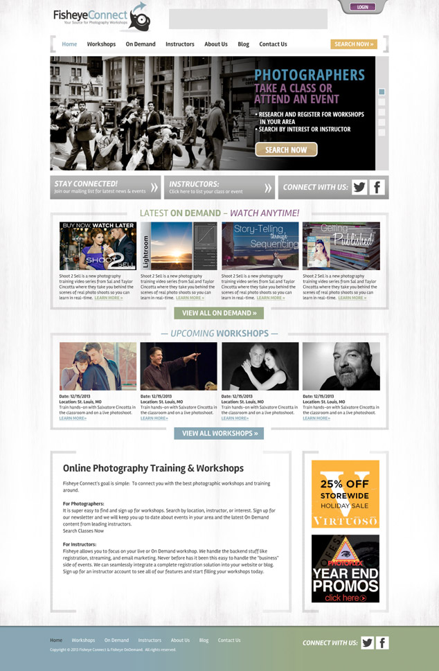 new home page web design Fisheye Connect