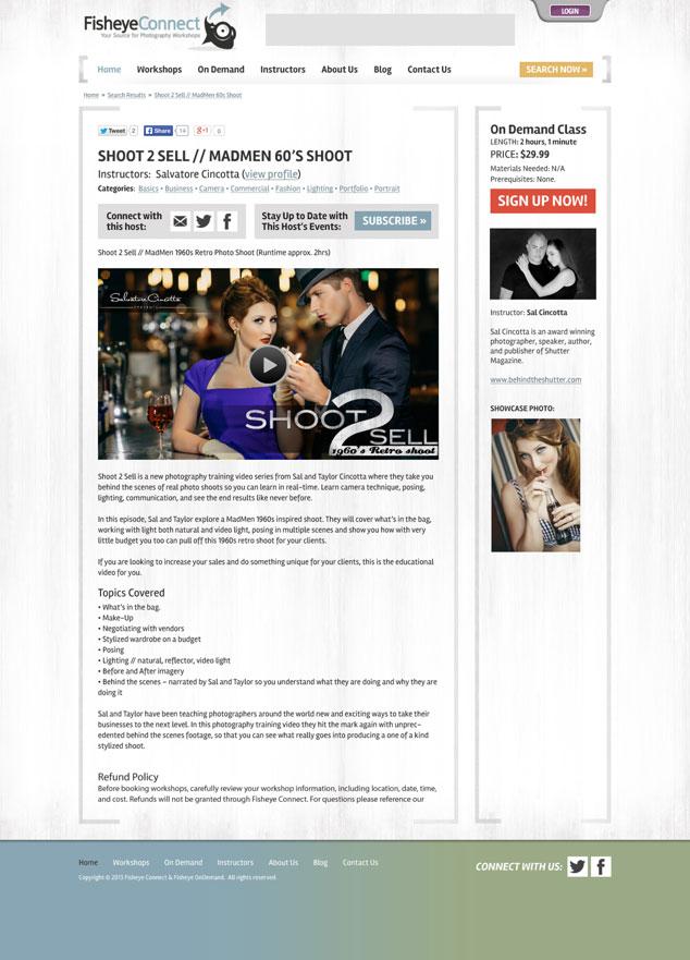 new workshop web page