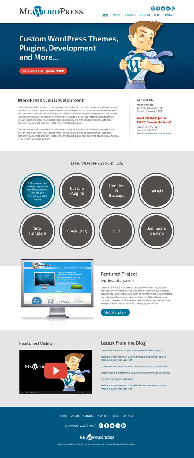 wordpress web design for colorado developer