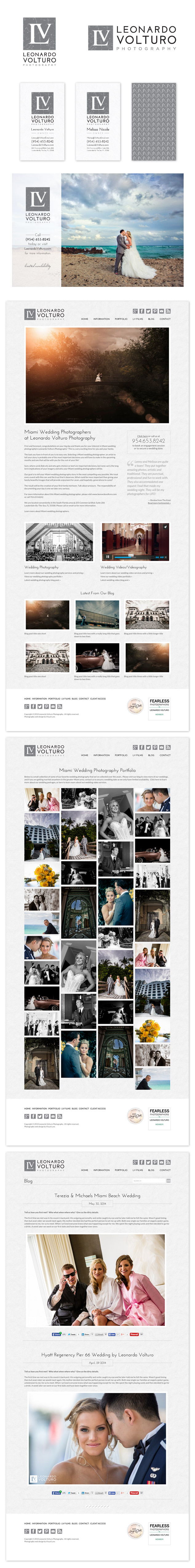 logo and website design for LV photography