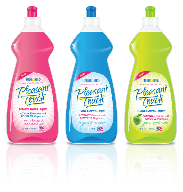 package graphic design for Pleasant Touch Dish Soap