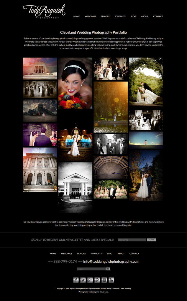 TAP photography gallery webpage