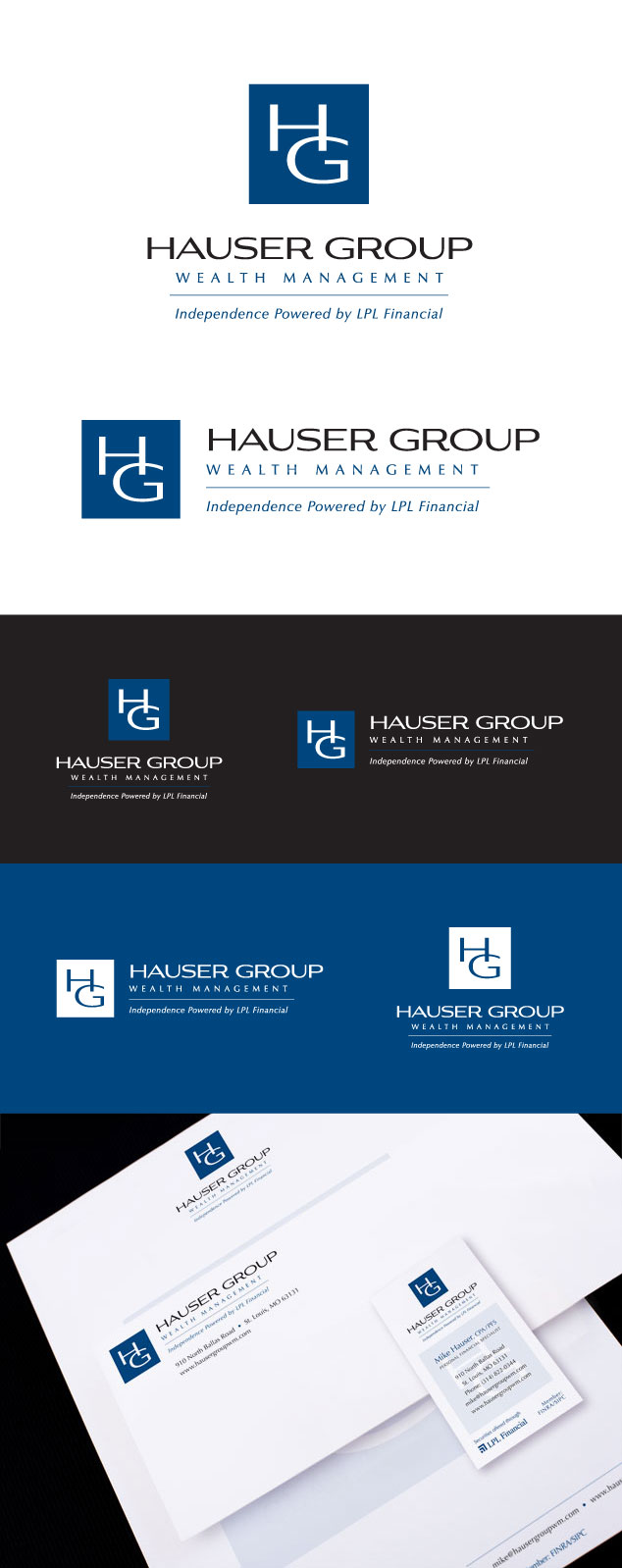 Hauser Group logo design and branding