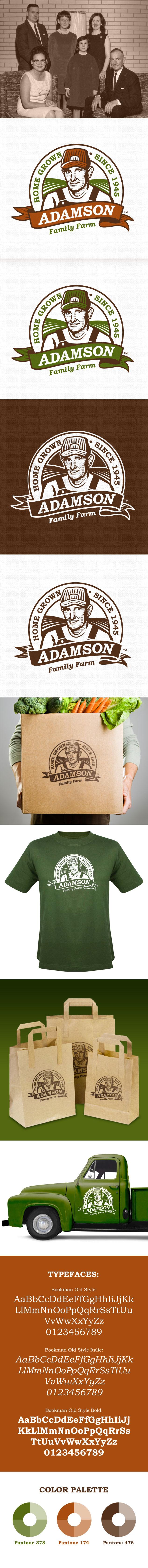Adamson Family Farm logo design & branding