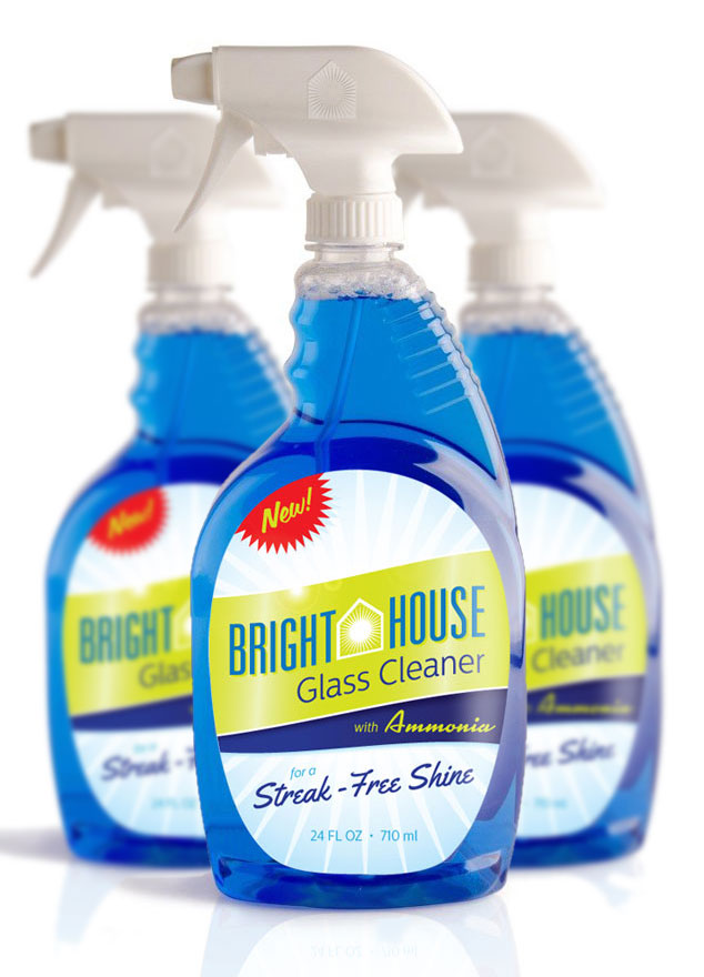 Bright House Glass Cleaner package design