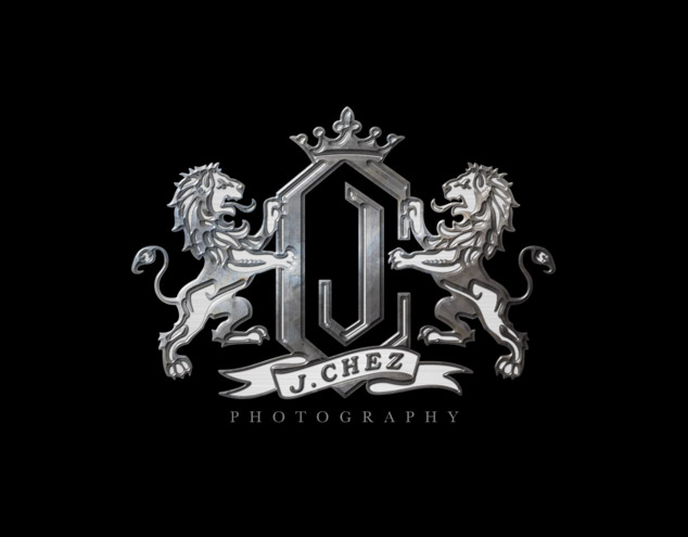 J. Chez Photography Logo Steel effect