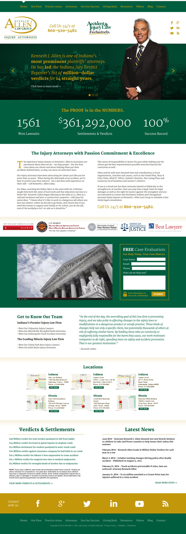 Indiana law firm web design for pitch