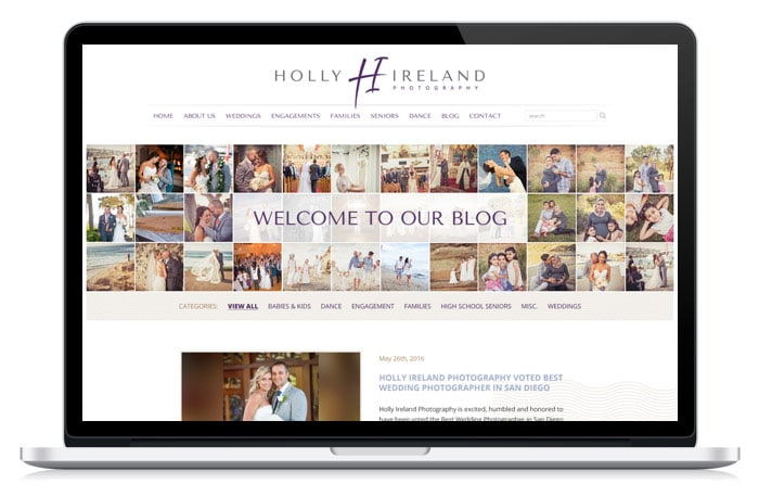 Holly Ireland Website Re-Design