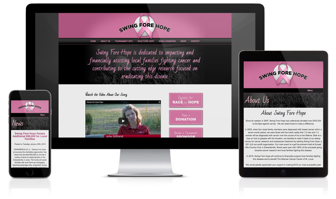 Swing Fore Hope Website