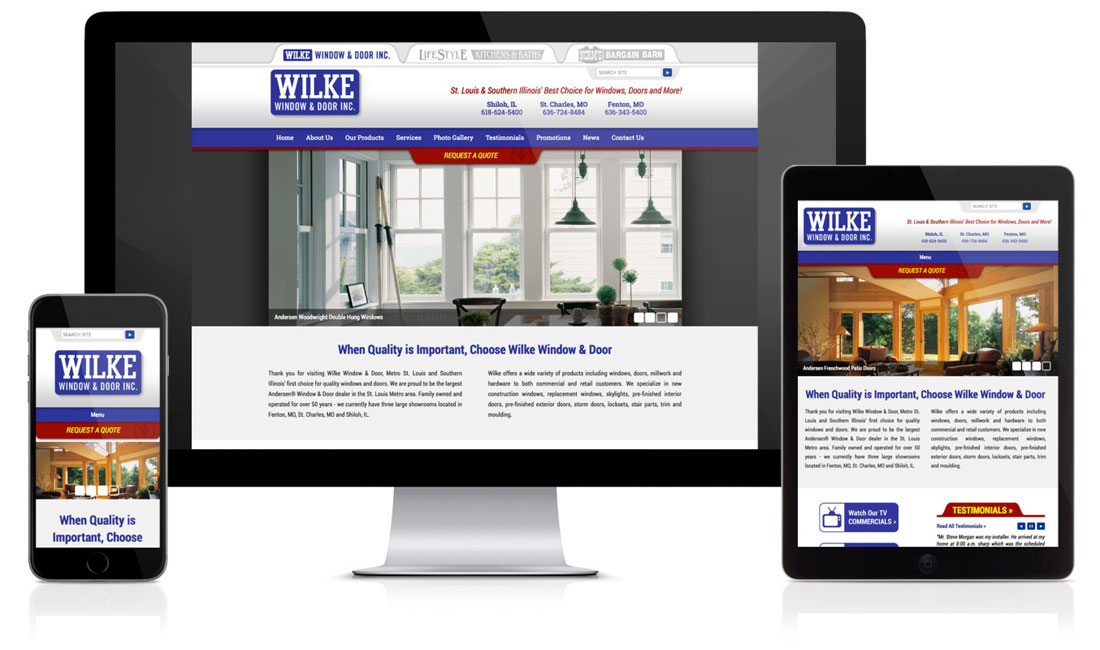 Wilke Window & Door Website