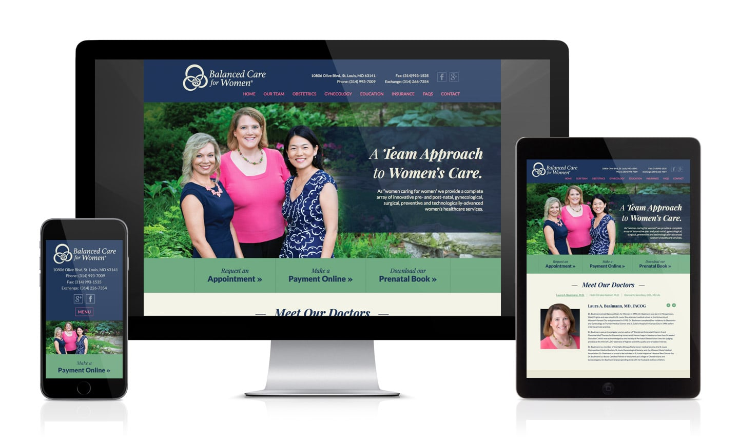 WordPress website Balanced Care for Women