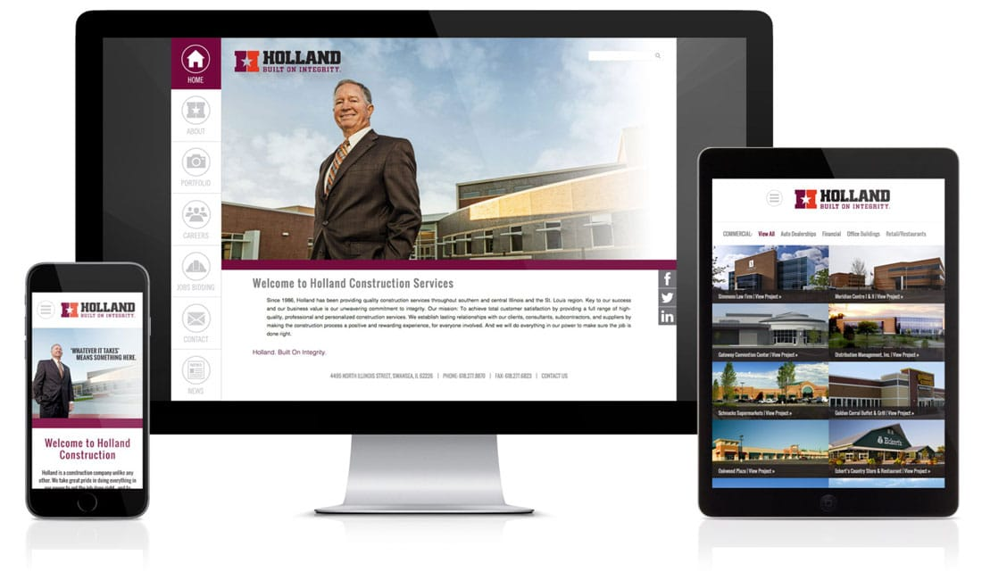 Holland Construction Website