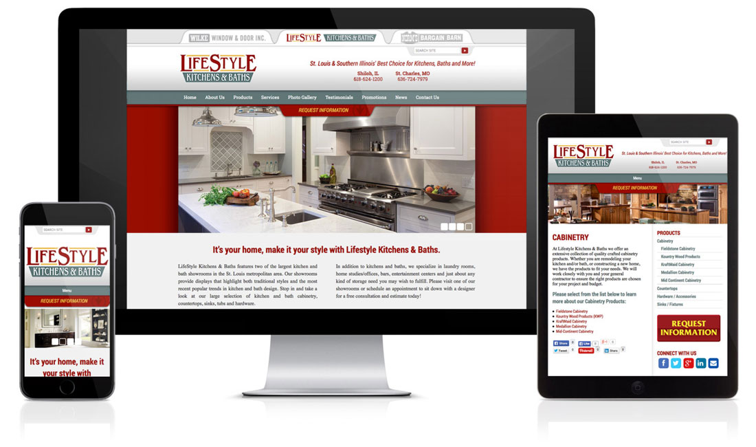 Lifestyle Kitchens & Baths Website
