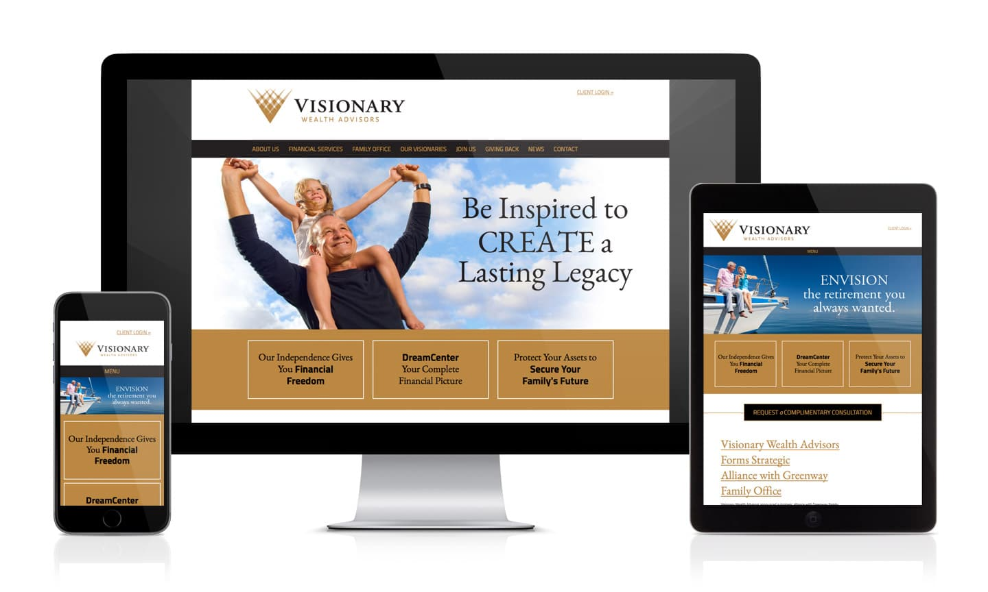 Visionary Wealth Advisors Website