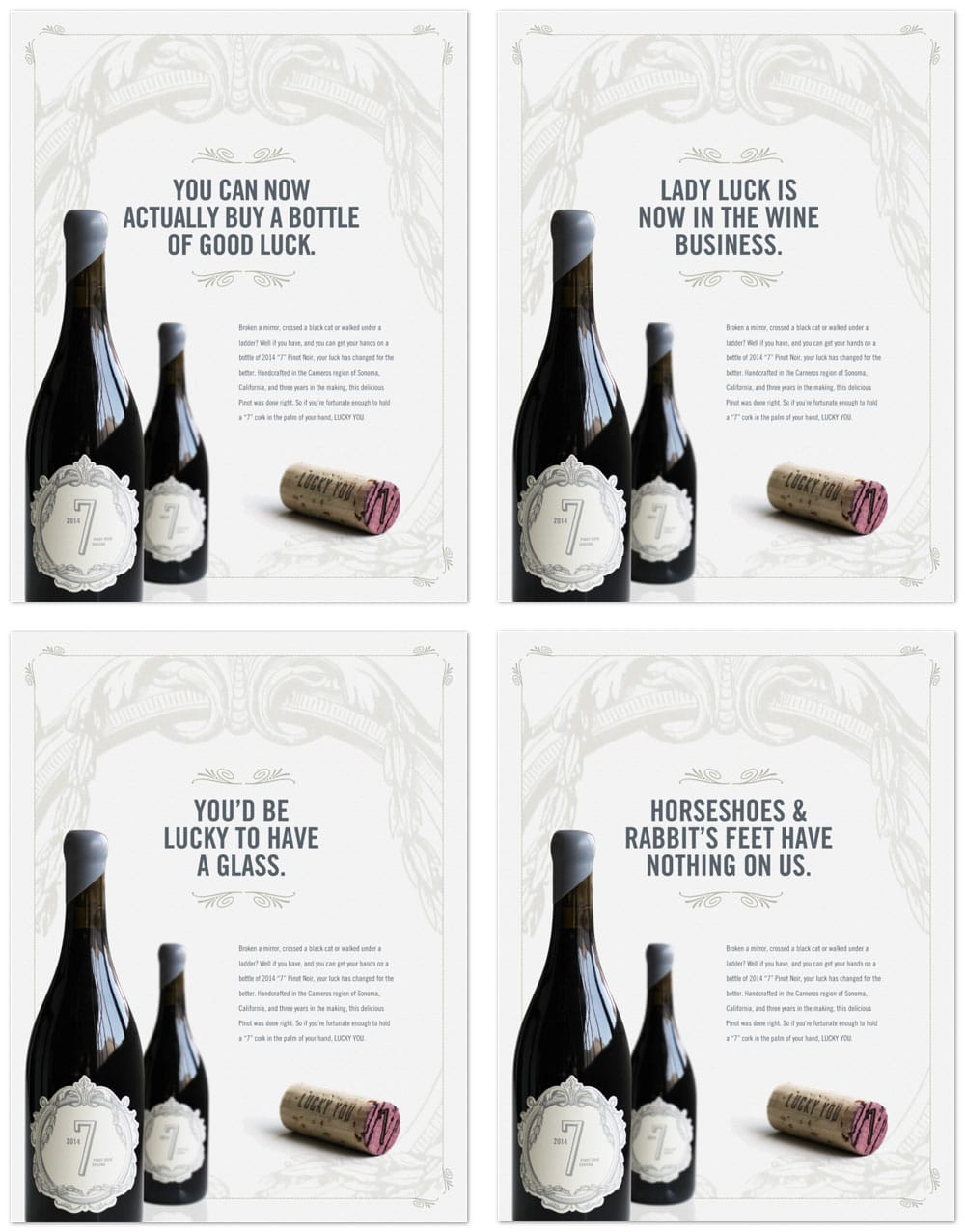 wine advertising graphic design