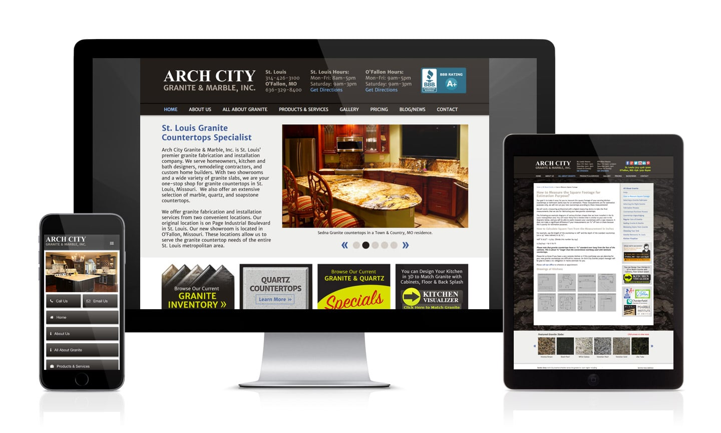 Arch City Granite Website