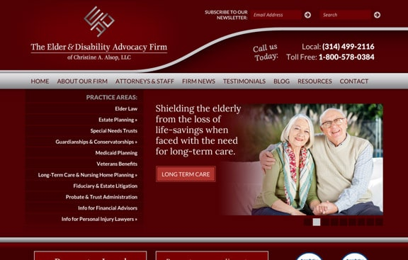 Alsop attorney web design