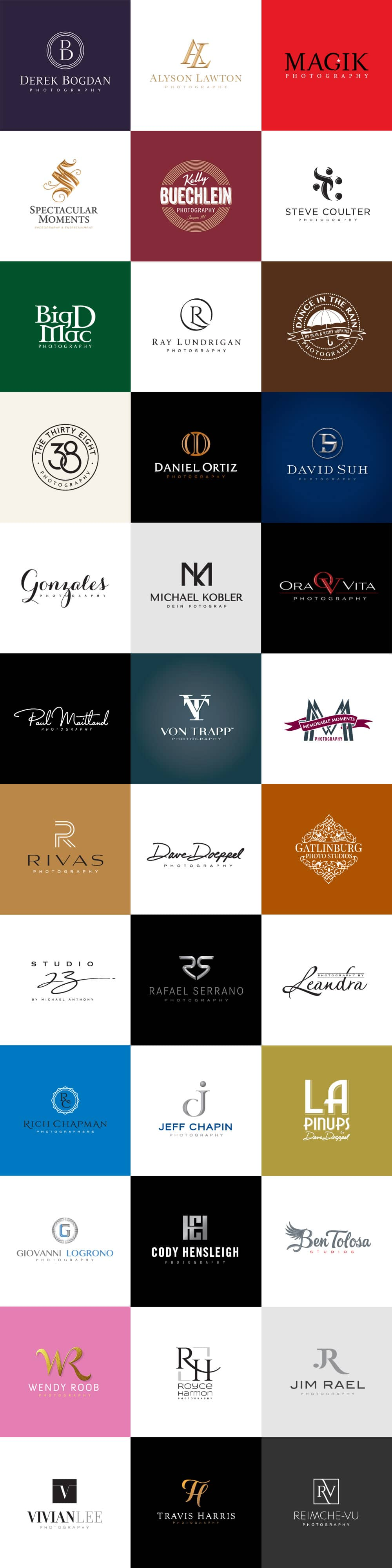 photographers logo designs