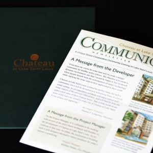 Newsletter design for a St. Louis, MO senior living facility