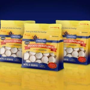 Chateau Mini Dumplings Package Design