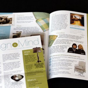 Newsletter design for a St. Louis Metro-East furniture store