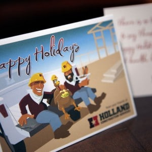 Christmas Card design for a St. Louis area construction company
