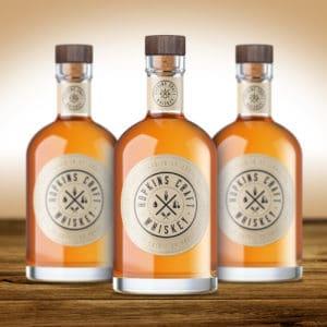 Hopkins Craft Whiskey label design