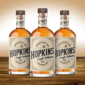Hopkins Craft Whiskey packaging design