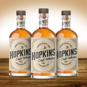 Hopkins Craft Whiskey packaging design