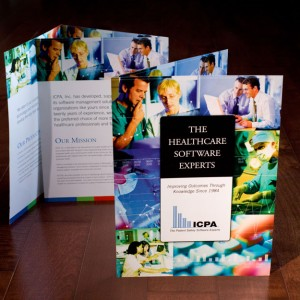 Brochure design for a medical software developer - designed while at a different design firm