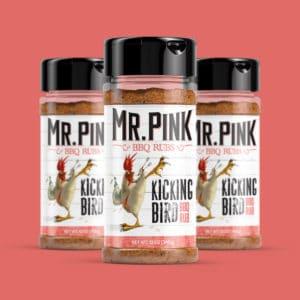 Mr. Pink BBQ Rubs packaging