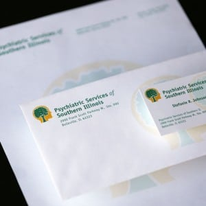 Logo and stationary design for Psychiatric Services of Southern Illinois