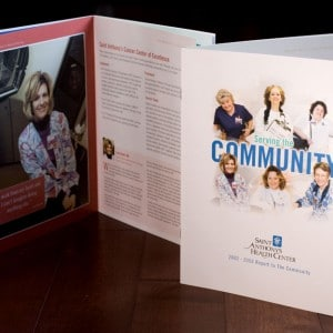 Annual report design for an Alton, IL hospital - designed while at a different design firm