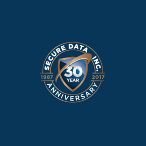 final Secure Data 30 Anniversary logo design