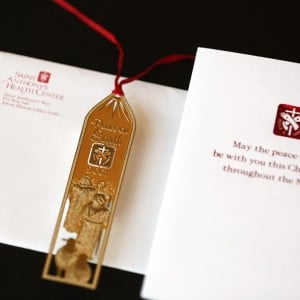 Custom designed Christmas card & ornament for an Alton, IL hospital