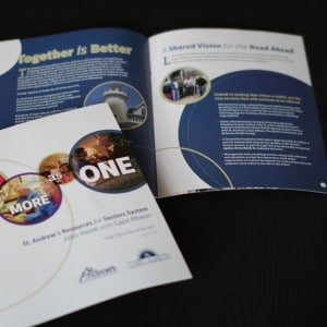 Brochure design for a St. Louis senior living system