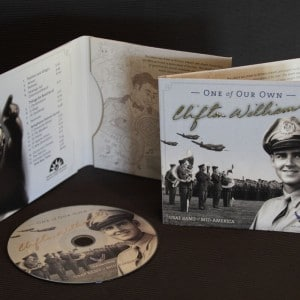 Packaging for an USAF CD honoring Clifton Williams