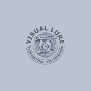 Visual Lure 15th Anniversary Logo Design