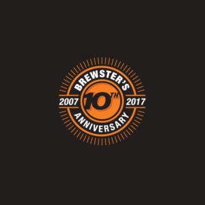 Brewster 10 Year Anniversary logo design