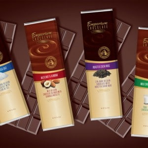Package design for chocolate bars