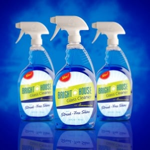 Bright House Glass Cleaner Labels