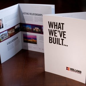 Brochure design for a St. Louis area construction company