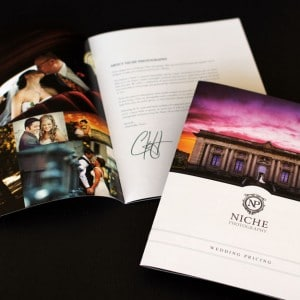 Bridal brochure for a St. Louis area wedding photographer