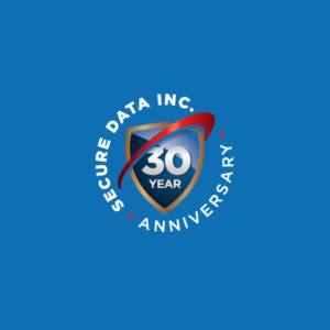 Secure Data 30 Anniversary logo design