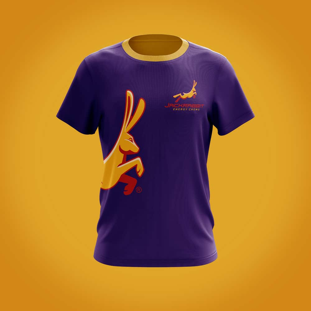 Jackrabbit branded t-shirt design