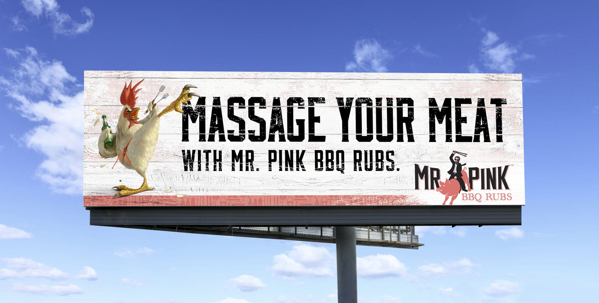 Mr Pink BBQ billboard design